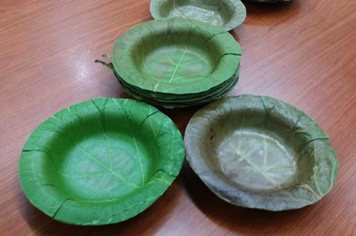 University Develops Sturdy, Leak-Proof Bowls Made From Leaves