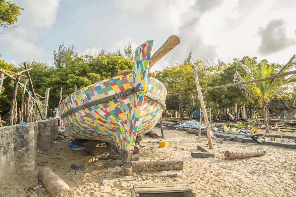A Boat Made Out Of Flip-Flops And Plastic Waste Sails Around As A Reminder To Keep African Seas Clean Again