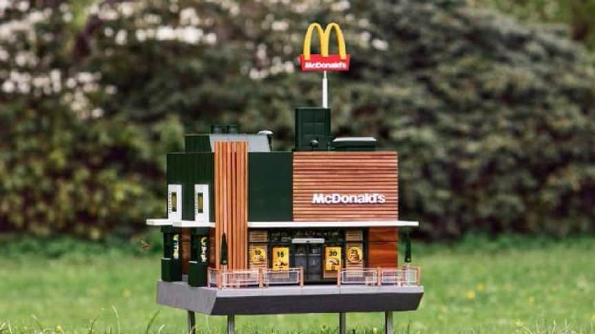 Food Chain Giant McDonald's Opens Miniature Restaurant for Bees