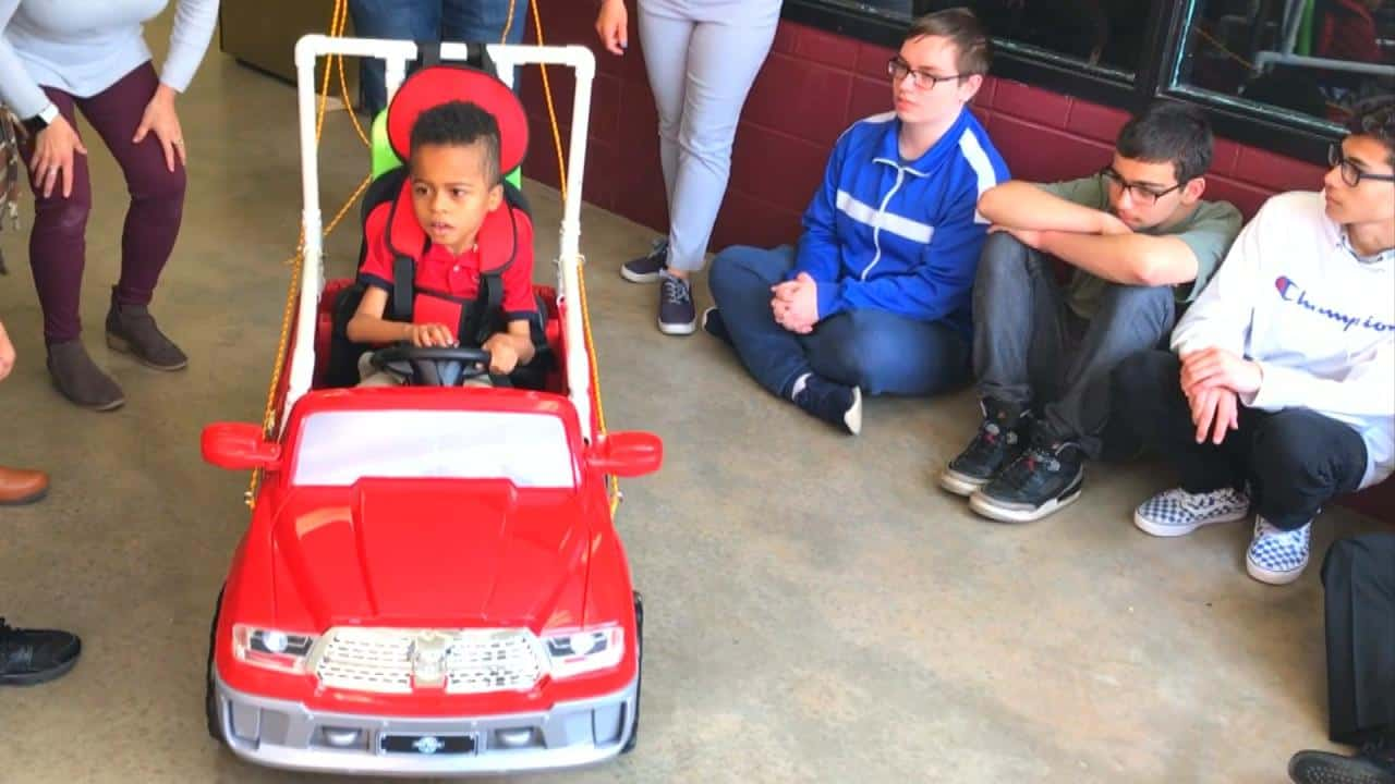 STEM Students in High School And College Successfully Built Personalized Go Carts For Disabled Children