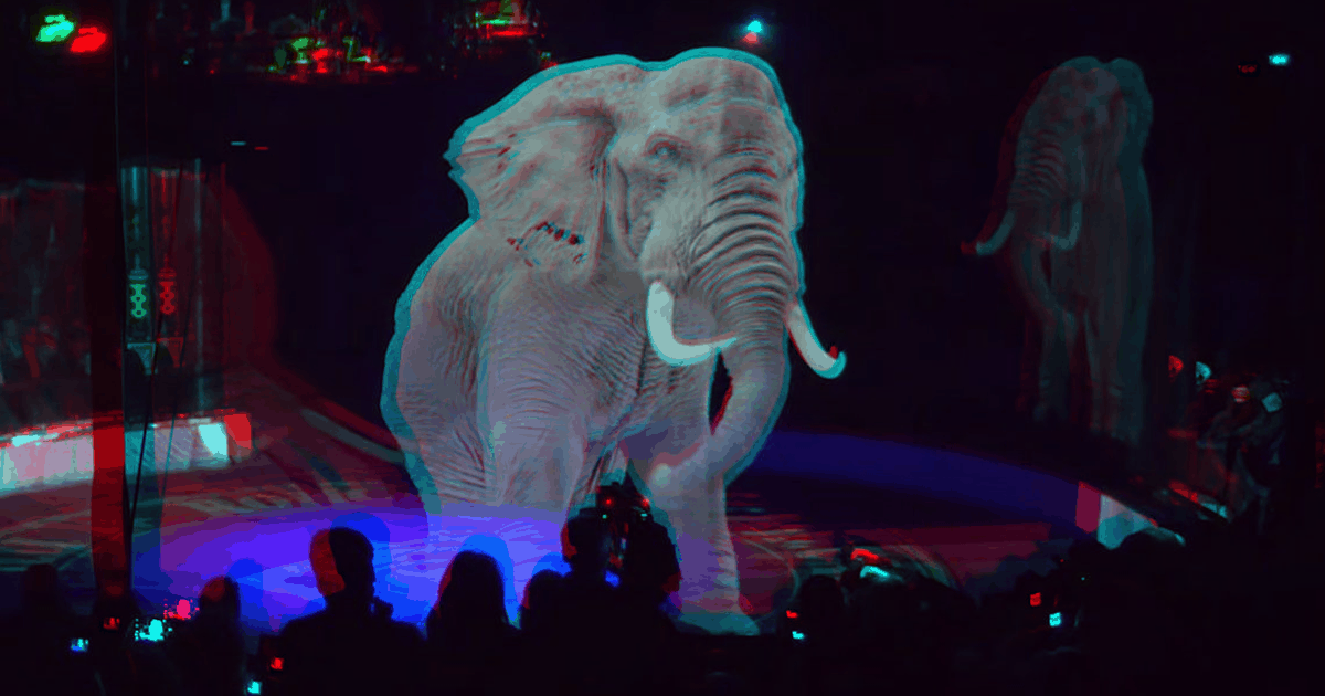 Instead of Real and Live Animals, This Circus Company Makes Use Of Holograms For A Spectacular Cruelty-Free Show