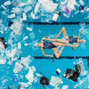 Synchronized Swimmers Perform Their World Championship Routine In A Pool Filled With Plastic Waste And The Reaction Was Priceless