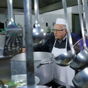"Roman ""Chef Of The Poor"" Cooks For The Homeless In Italy's Capital At 90-Years-Old"