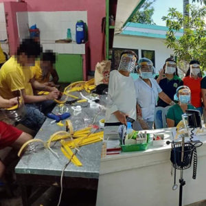 Inmates In Quezon Province, Philippines, Make Face Shields For Frontliners To Use