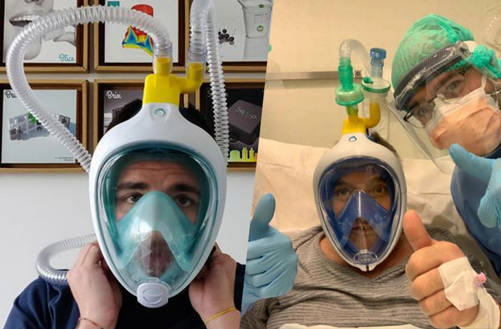 Simple Scuba Masks Turned Into Ventilators To Save Lives During The Coronavirus Pandemic