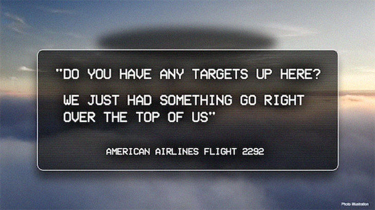 FBI Was 'Aware' of UFO Sighting By American Airlines Pilot Over New Mexico